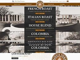 加拿大Barista Prima咖啡网页设计