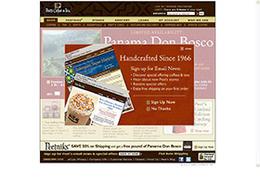 浓郁深色Peet's Coffee & Tea 咖啡&茶网站设计欣赏