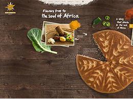 東非面包店East African Bakery視覺效果豐富的餐飲網站設計