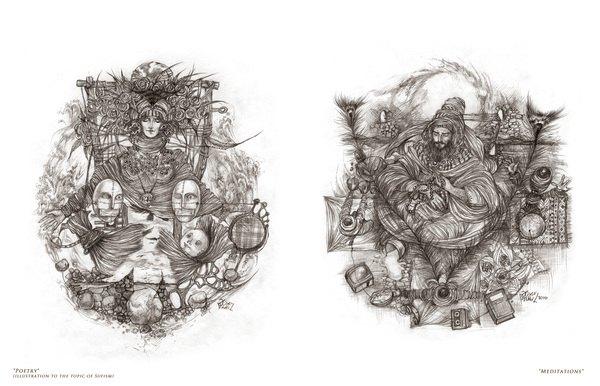 Ramil Aliyev的精细欧式复古风格人物插画设计欣赏