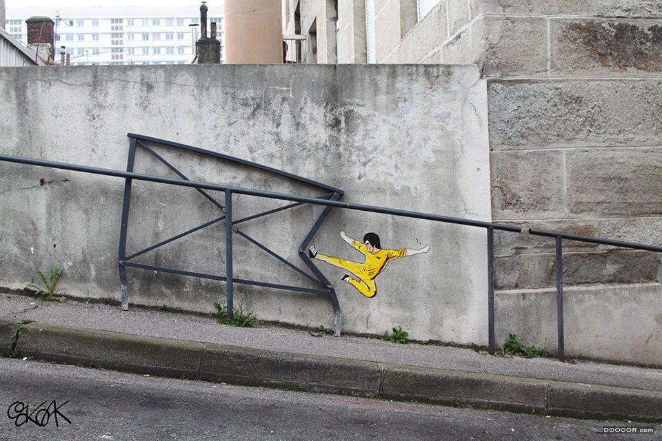 5個老外的瘋狂街頭涂鴉墻欣賞