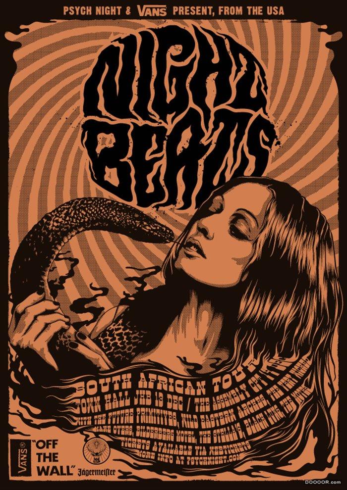 南非小镇插画工作室酒标和海报设计