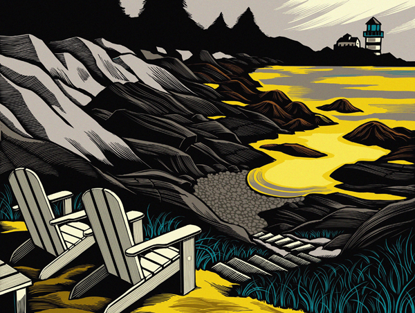 Chris Gall线条壁画风格插画设计欣赏