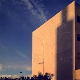 巨型樓面墻體涂鴉藝術
