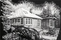 MEIER 鋼筆寫實鄉村房屋建筑手繪圖欣賞