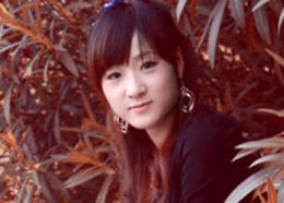 Photoshop打造甜美的红褐色秋季外景美女图片