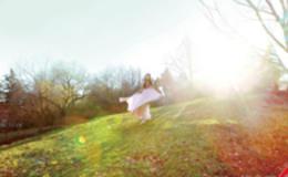Photoshop打造唯美的树林逆光人物图片