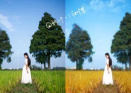 Photoshop调出人像外景秋季淡黄色调