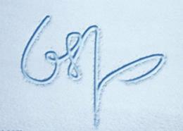 Photoshop在冰雪上制作漂亮的划痕连写字
