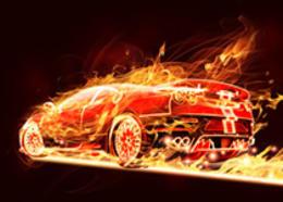 Photoshop打造超酷的火焰汽车