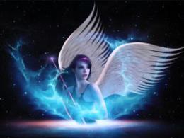 创建一个梦幻太空时代的光天使的场景-1