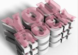 PS三维层状块文字设计教程