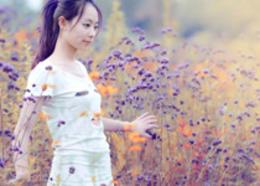Photoshop调出花园人像照片梦幻紫色调
