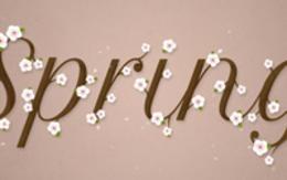 七夕PS创建清新雅致的樱花效果字体