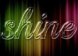 photoshop打造七彩閃亮的透明玻璃文字效果
