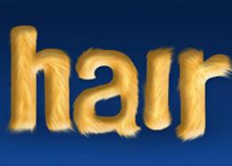 Photoshop使用涂抹和减淡工具制作毛发艺术字