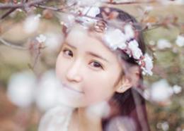 Photoshop调出桃花下的人像甜美通透肤色