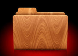 PS制作木质文件夹图标