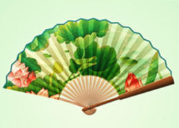 Photoshop绘制中国风逼真的折扇效果图