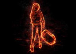 Photoshop给人像照片制作成火焰燃?#25307;?#26524;图