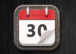 写实日历图标教程