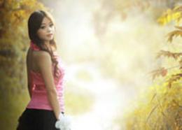 Photoshop調出人像照片秋季黃褐色藝術效果
