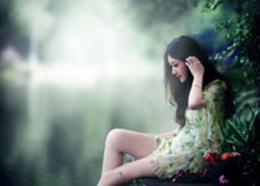 Photoshop调出外景人像绿色LOMO艺术效果