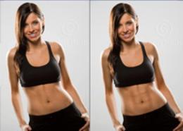 PS制造腹肌-6塊腹肌的制作