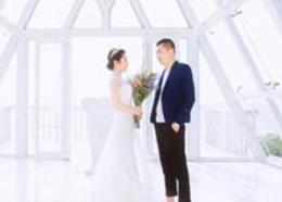 Photoshop调出外景婚片甜美温馨色调