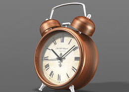 Photoshop繪制3D立體風格的鬧鐘效果圖