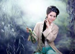 Photoshop調出中國風美白外景藝術藍色調