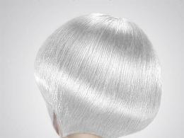 PS把黑发变成高质感白发
