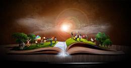 Photoshop合成孩子在玩耍的童話書