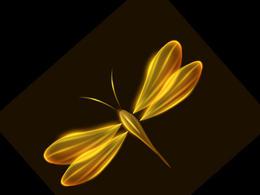 Photoshop制作梦幻的火焰蜻蜓