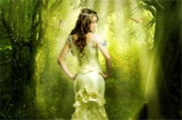 PhotoShop森林里的精靈美女夢幻場景效果后期合成教程
