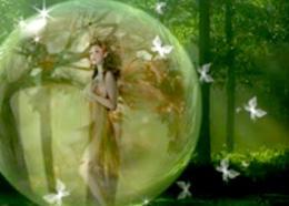 Photoshop制作水晶球中的精靈