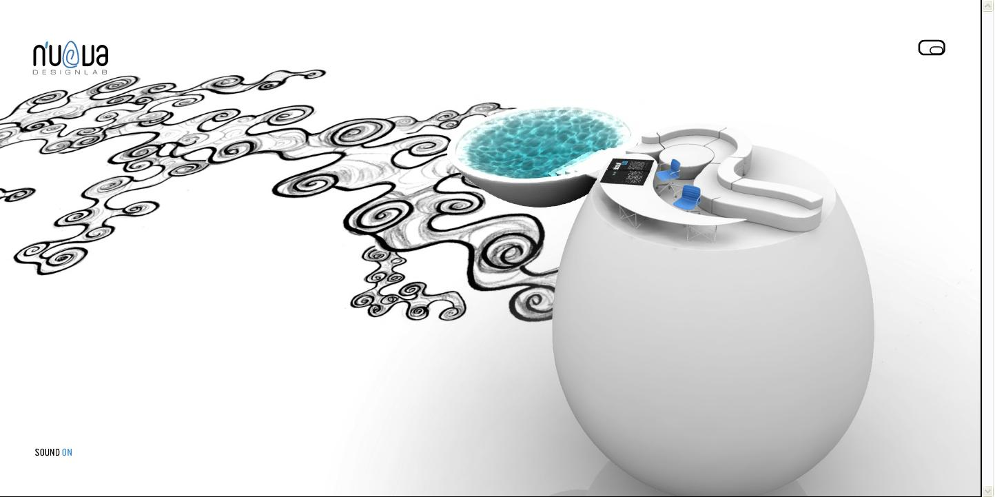 NUOVA设计公司纯净明快的白色全flash网页设计欣赏