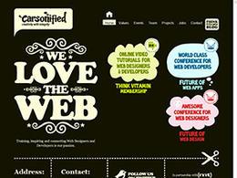 手绘风格大色块Carsonifield网站欣赏网页设计欣赏