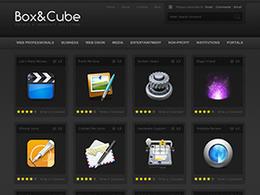 CUBE缩略图列表页立体质感效果网页设计