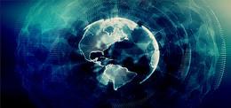 多边形科技地球背景