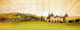 欧式田园背景