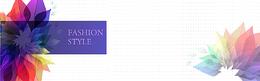 唯美紫色渐变色花瓣海报背景