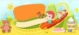 童趣玩具游乐园早教教育海报banner