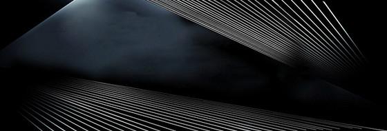 黑色炫酷几何线条背景banner