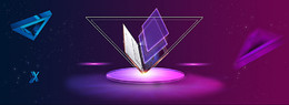 紫色几何背景