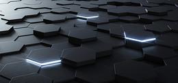 黑色几何图形立体背景