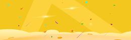淘宝促销黄色卡通海报背景