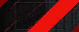 淘宝扁平几何黑红色banner背景