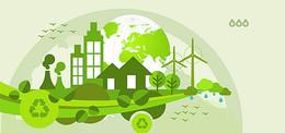 环保几何扁平绿色海报背景