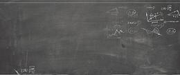 开学季黑板手绘灰色banner背景
